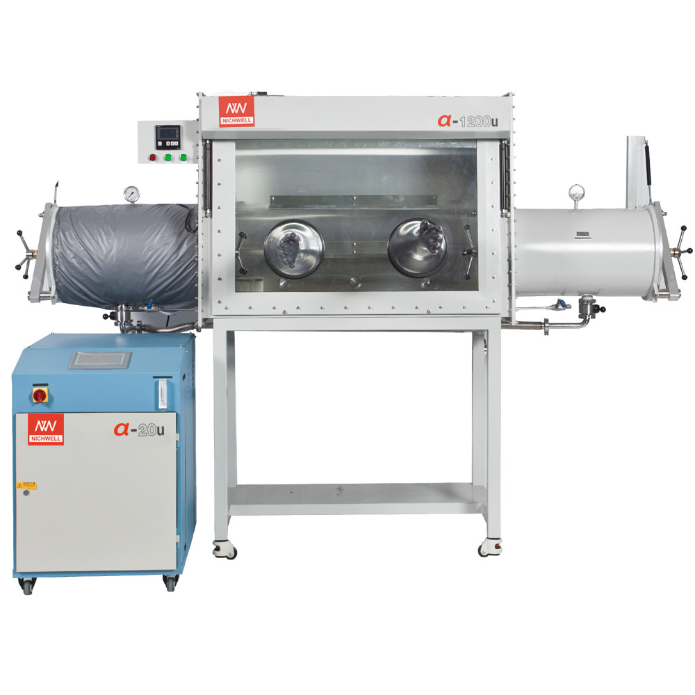 α-1200U Inert Vacuum Controlled Atmospheres Laboratory Glovebox With  Main Antechamber 200℃ Oven