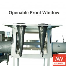 α-1200U Inert Vacuum Controlled Atmospheres Laboratory Glovebox With Openable Front Window
